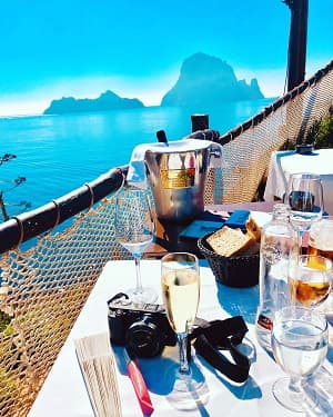 meal with a view in ibiza