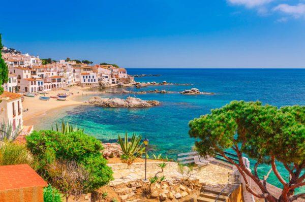 Plus belle plage sur la Costa Brava en Catalogne
