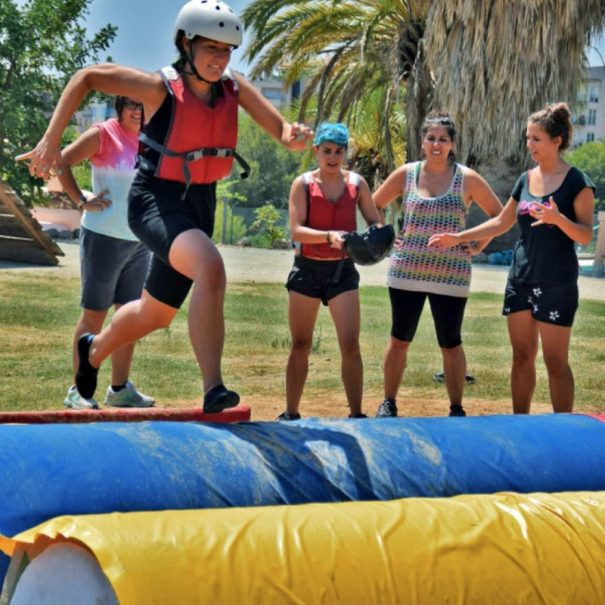 Fun team building games in Sitges