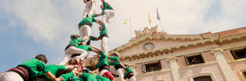 atelier castellers pyramides humaines