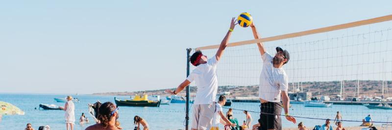 team building beach games barcelona