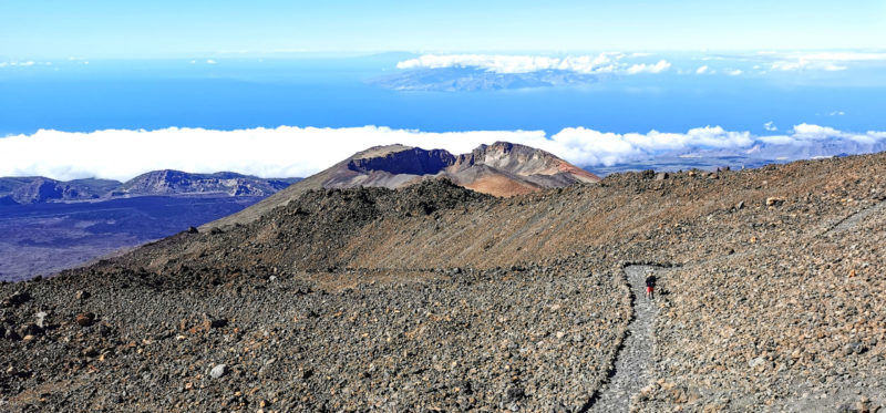 Climbing Mount Teide in Tenerife in the Canary Islands