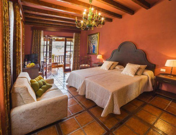Chambre de l'hôtel Emblematico San Marcos