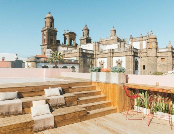 Rooftop lors d'un séjour à l'hôtel Veintiuno Emblematic Hotel à Grande Canarie