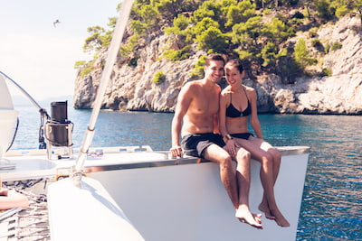 Catamaran couple majorque