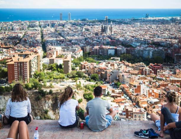 Vue Bunkers Carmel Barcelone