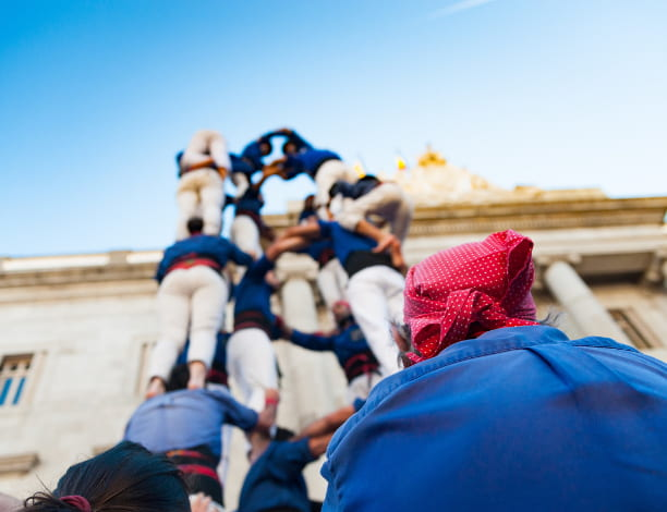 Tour humaine castellers Barcelone