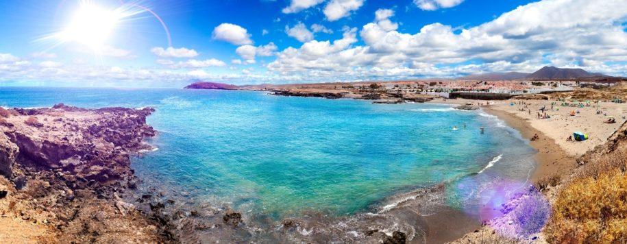 Panorama de la playa y el mar de Tenerife