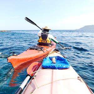 Sea kayaking in Lanzarote