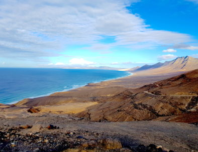 Mountain and sea in Cofete, Fuerteventura