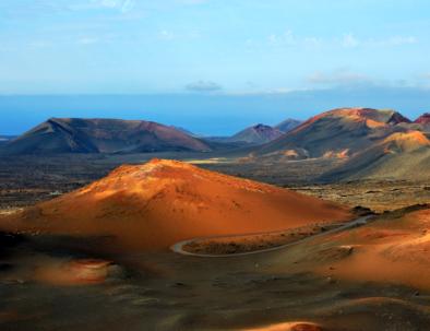 Volcanic landscape in Lanzarote