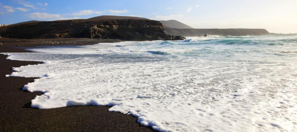 Black sand beach in Lanzarote