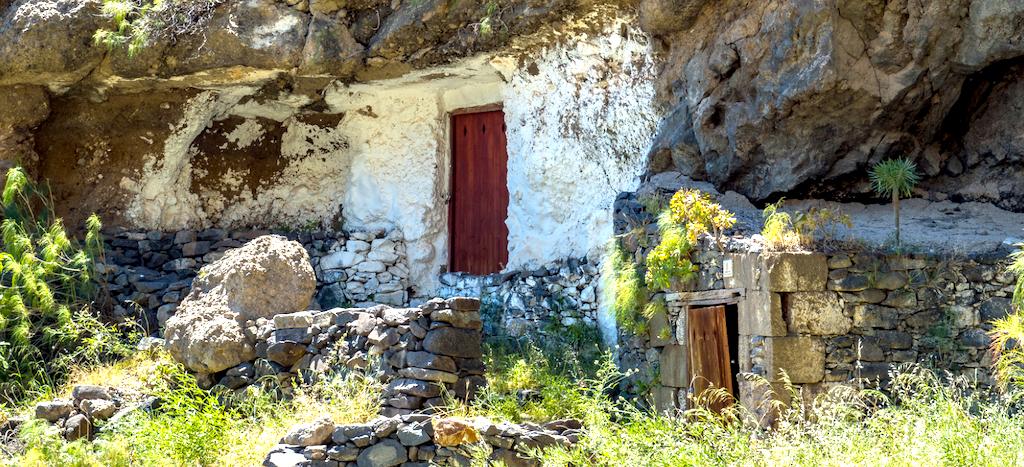 Casas cueva en Acusa, Gran Canaria