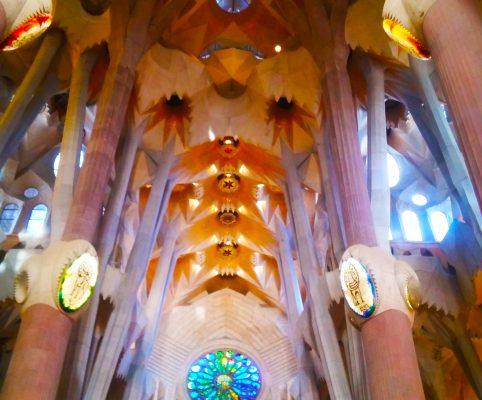 Secret Barcelona - ceiling inside sagrada familia