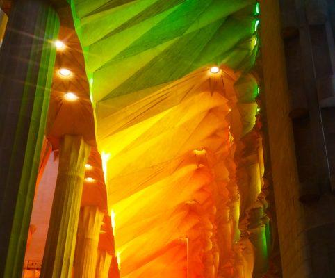 Secret Barcelona - lights game inside the sagrada familia