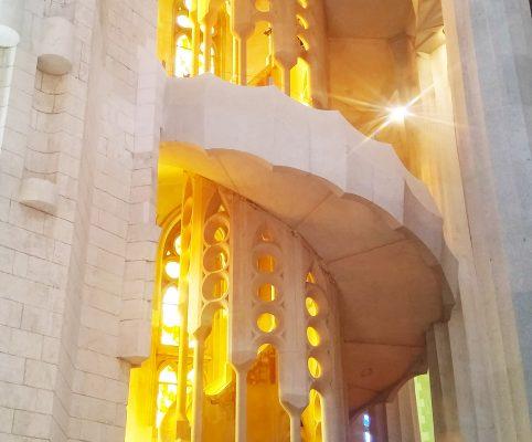 Secret Barcelona - stairs sagrada familia